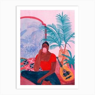 Pink Morocco Art Print