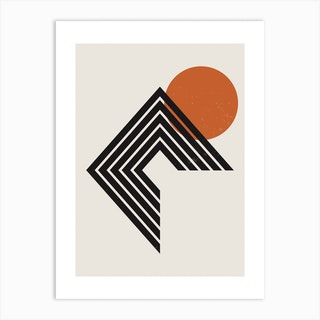 Abstract Geometric Rainbow Two Art Print