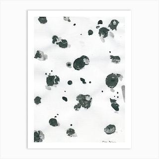 Ink Drops Art Print