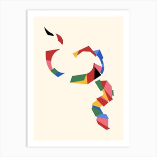 Paper Snake Art Print