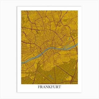 Frankfurt Yellow Blue Art Print