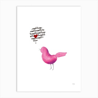 Tweet Love Art Print