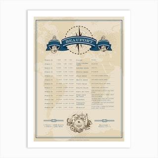 Echelle De Beaufort Art Print