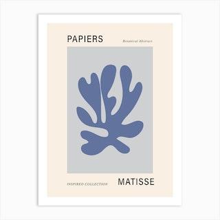 Matisse Cutout Blue Poster Wall Art Art Print