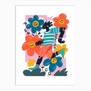 Men Like Flowers Art Print
