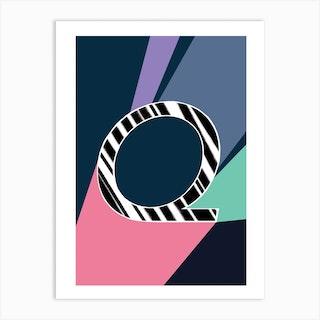 Q Geometric Font Art Print