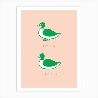 Duck Habits Art Print