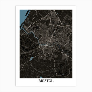 Bristol Black Blue Art Print