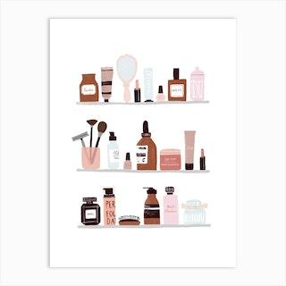 Make Up Shelfie Art Print