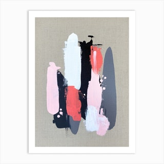 Pink Black And Grey 2 Art Print