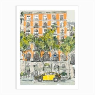 Barcelona Taxi  Art Print
