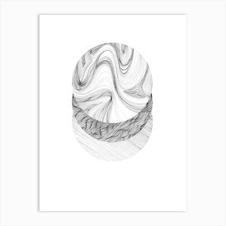 Moon Lines 2 Art Print