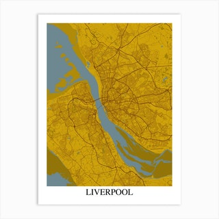 Liverpool Yellow Blue Art Print