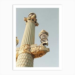 Paris Lamp Art Print