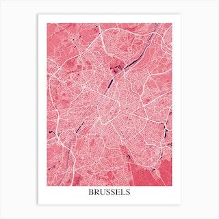 Brussels Pink Purple Art Print