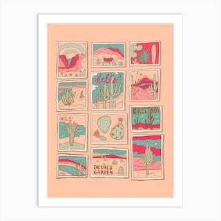 Travel Postcards Art Print