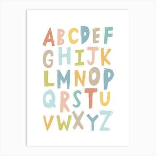 Abc Alphabet Nursery Art Print