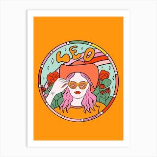 Leo Cowgirl Art Print
