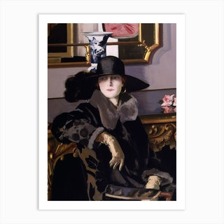 A Lady In Black by Francis Campbell Boileau Cadell Art Print
