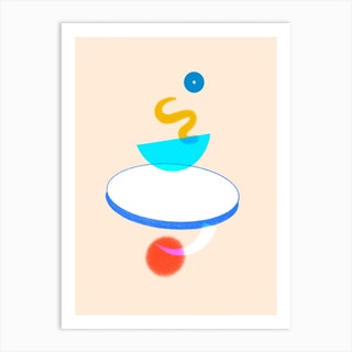 Trying To Find Balance Art Print