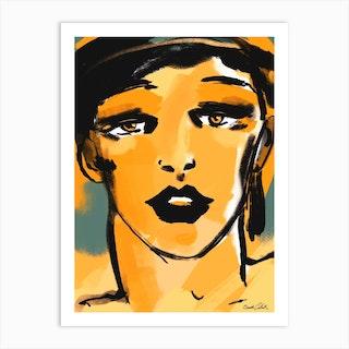 Yellow Wave Art Print