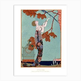 L'Oiseau Volage, George Barbier Art Print