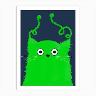 Cat Alien Art Print