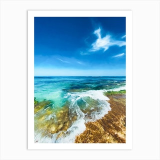 Penguin Island Coastline Two Art Print