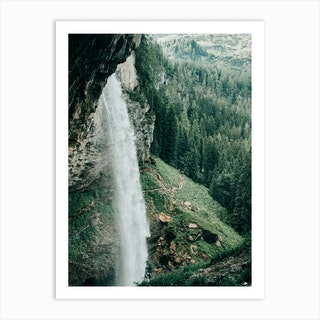 Waterfall In The Mountains Of Austria Art Print