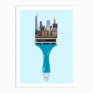 New York City Brush Art Print