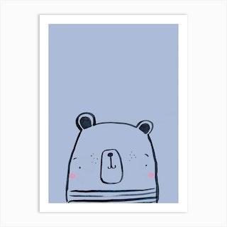 Inky Polar Bear Art Print