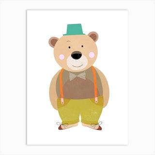 Smiley Bear Art Print