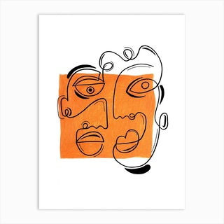 The Laughing Heart 3 Art Print