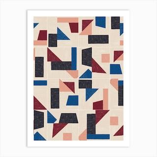Tangram Wall Tiles 03 Art Print