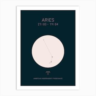 Aries Star Sign In Dark Art Print