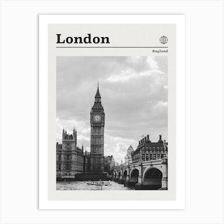 London England Black And White Art Print