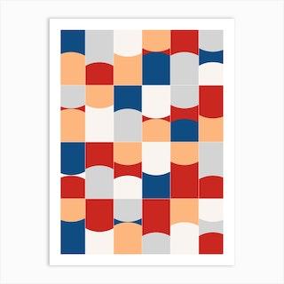 Vivid Tiles 03 Art Print
