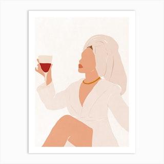 Winehouse Art Print