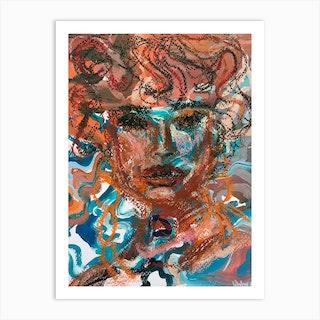 Canyon Face Art Print