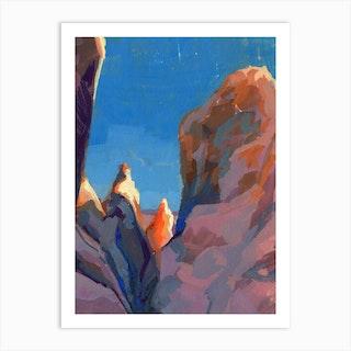 Joshua Tree Rocks Art Print
