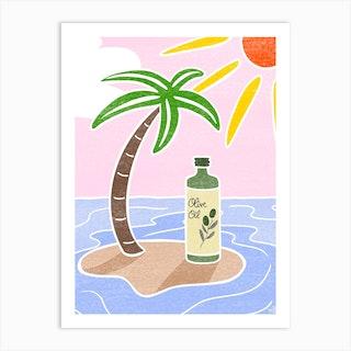 Olive Oil Art Print