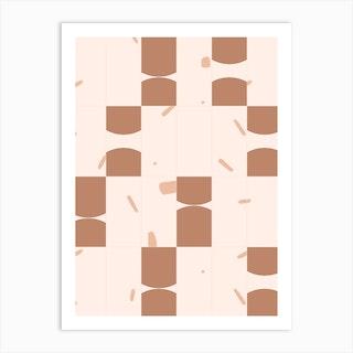 Earthy Tiles 02 Art Print