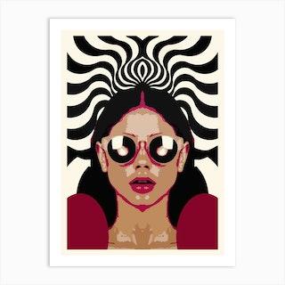 Trippy Girl Art Print