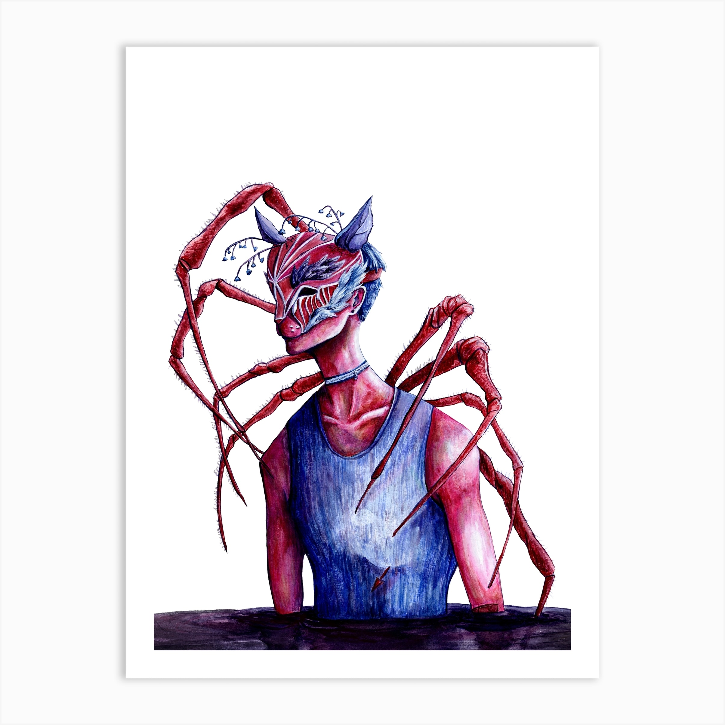 Anxiety Art Print By Lion Leon Art Fy