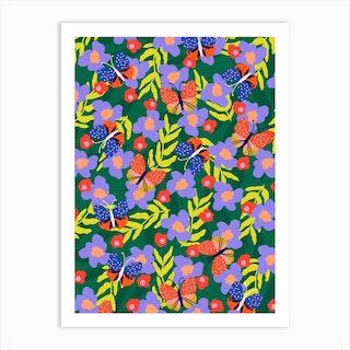 Butterflies At Your Window Art Print