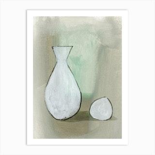 Vase And Ball Art Print