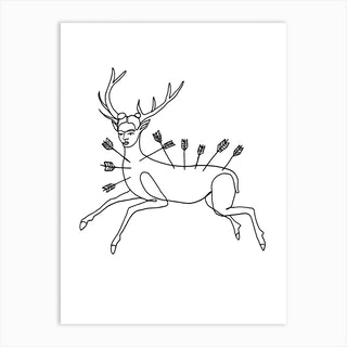 Frida Wounded Deer Art Print