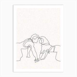 Dirty Dancing Outline Art Print