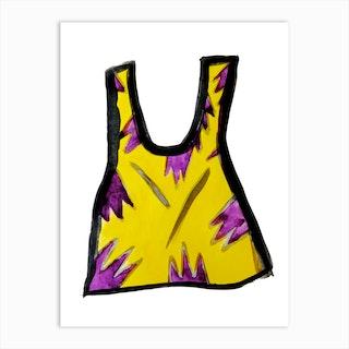 Yellow Camisole Art Print