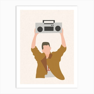 Say Anything Boombox Art Print